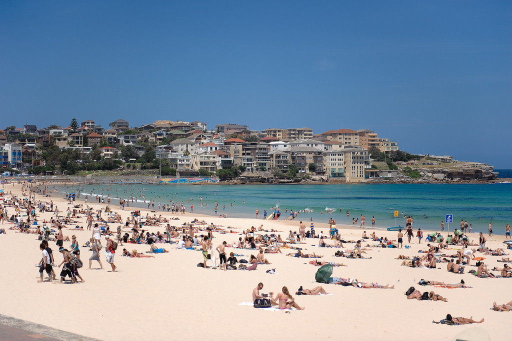 Bondi beach on Vivid Sydeny Festivel