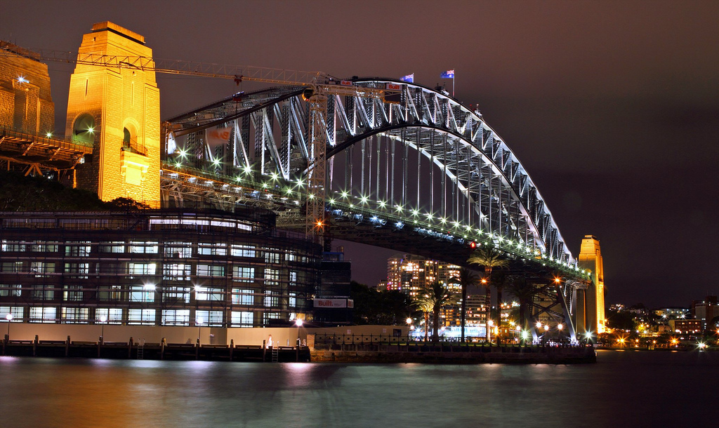 Harbour Bridge on Vivid Sydeny Festivel