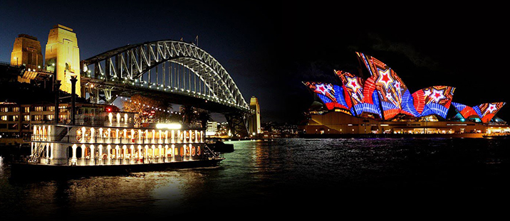 Vivid Sydney Ballroom Value Late Buffet Dinner Cruise