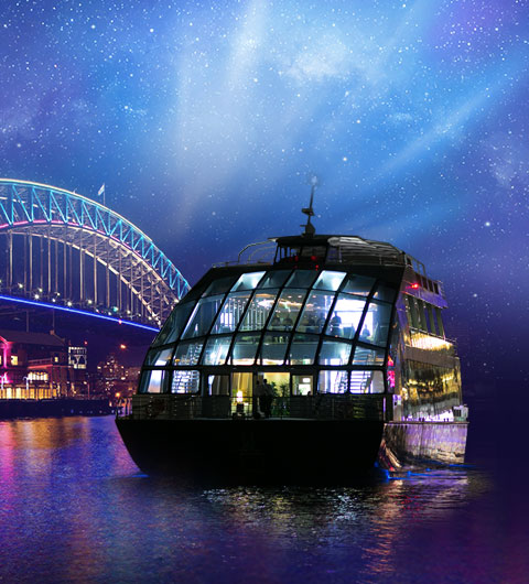 Vivid Sydney Clearview Glass Boat Dinner Cruise