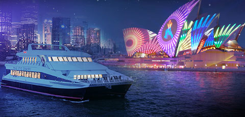 Vivid Sydney Magistic 2-Hour Express Buffet Dinner Cruise