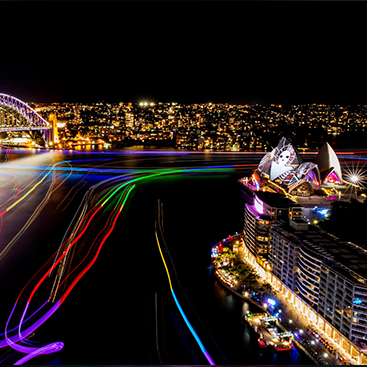 vivid harbour cruise